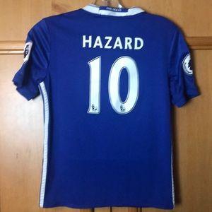 Chelsea Hazard US M kids soccer jersey